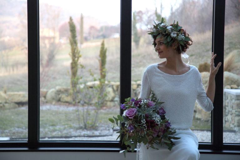 Shooting d'inspiration mariage d'hivers en Drôme provençale