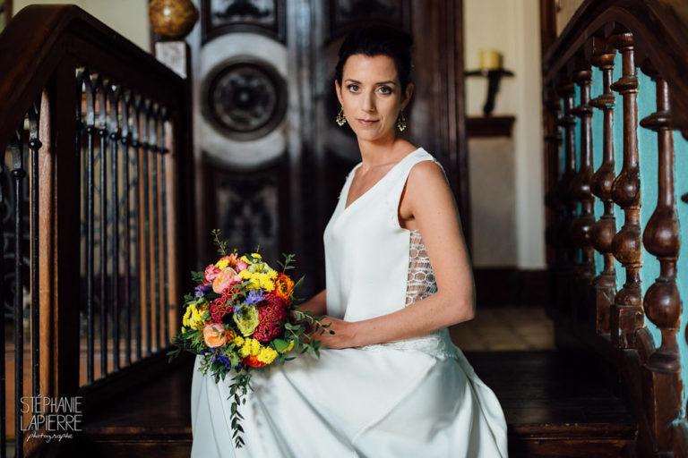 Shooting d'inspiration pour un mariage fleuri et coloré